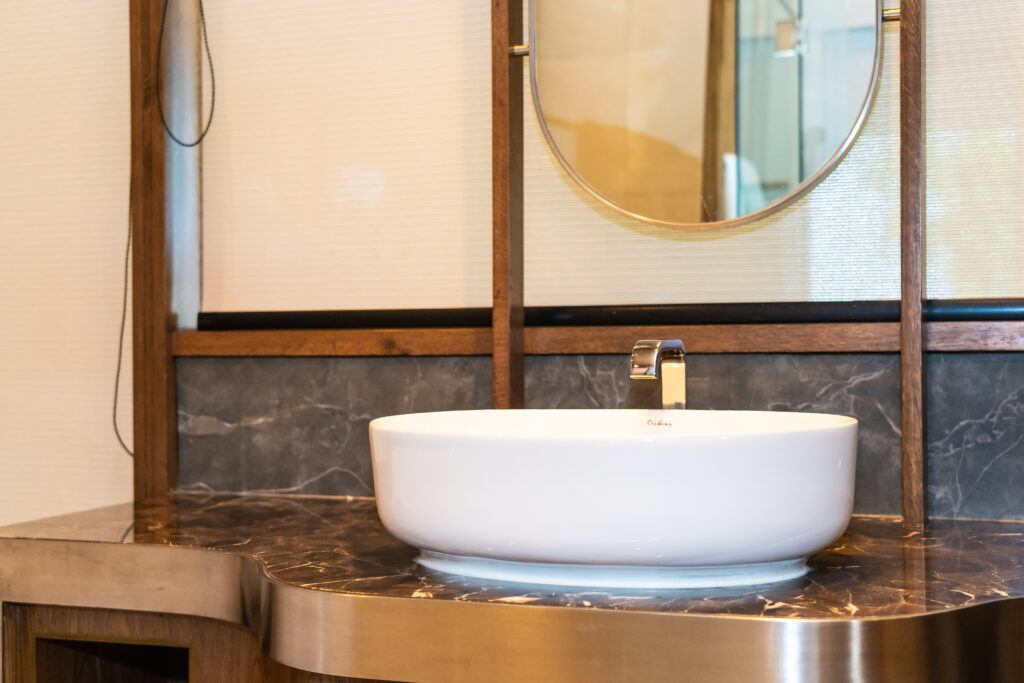 Touchless bathroom faucets